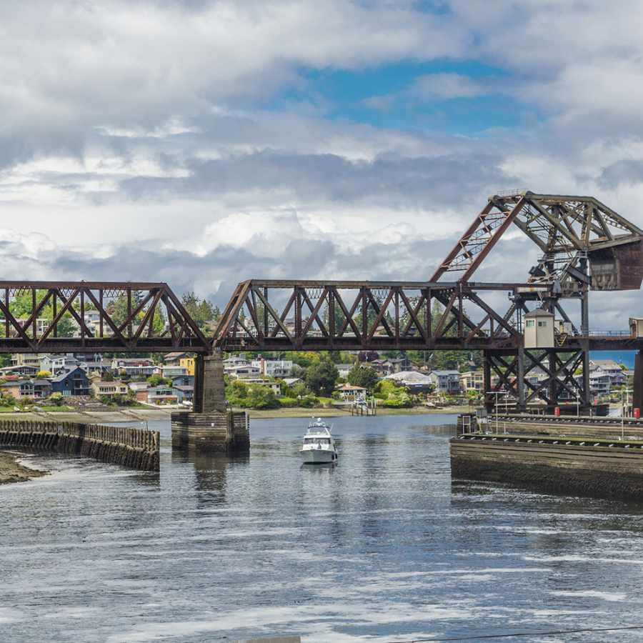 The Salmon Bay Bridge at the Ballard Locks