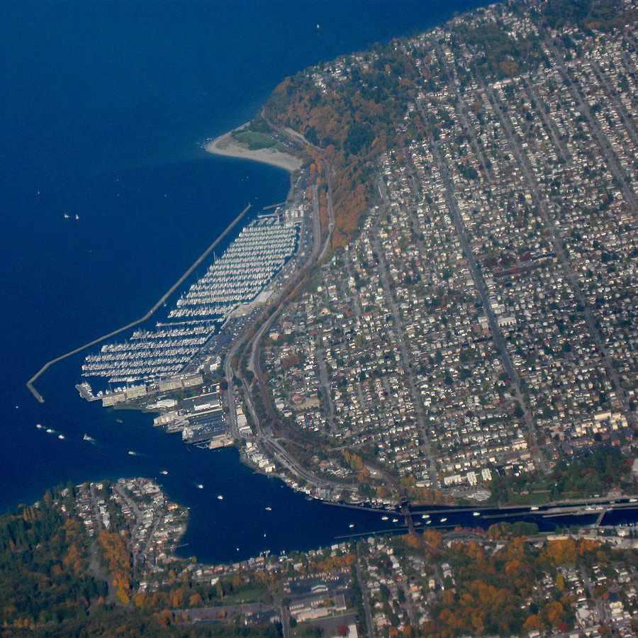 Aerial view of Ballard. Photo credit Dcoetzee.