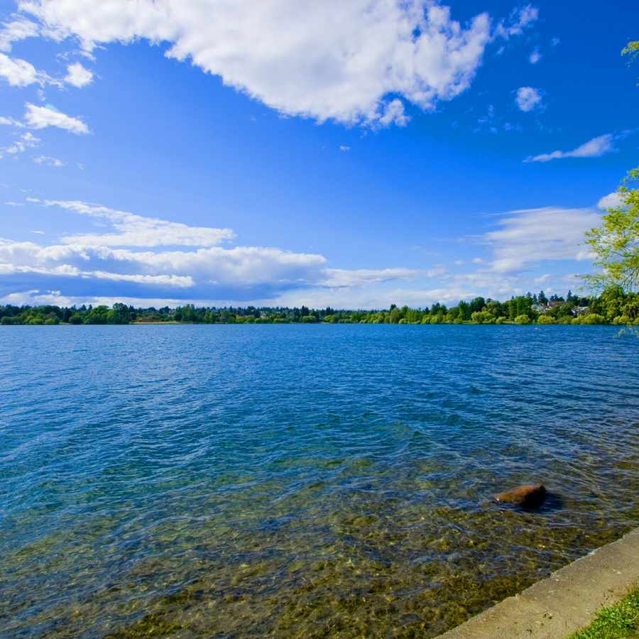 Green Lake in Seattle, Washington