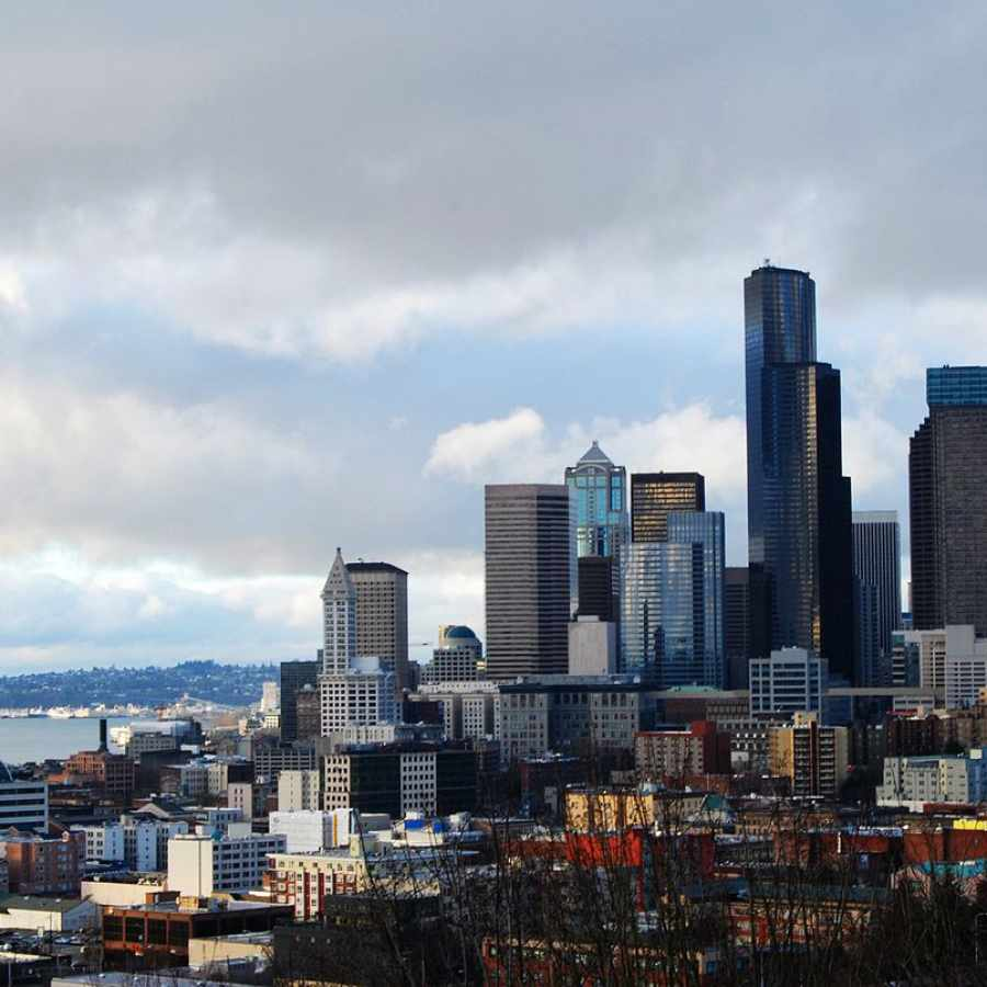 View of downtown Seattle via Rizal Park on Beacon Hill. Photo credit Waqcku.
