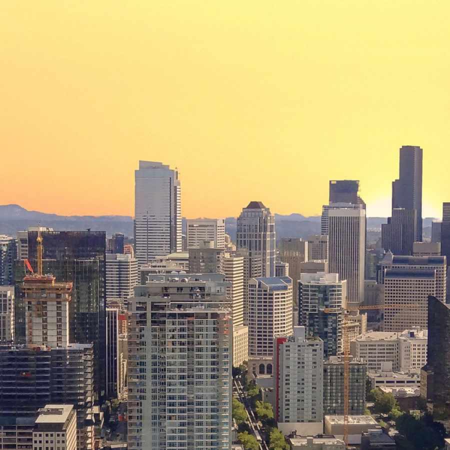 Seattle, Washington at Sunrise