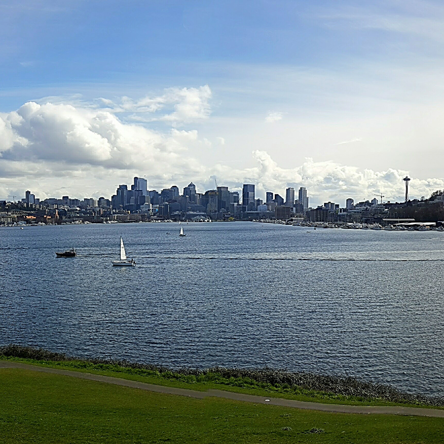 View of Seattle from Gas Works Park in Wallingford